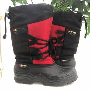 Baffin Red Black Winter Snow Boots